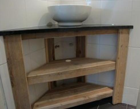 Steigerhouten meubelen indoor de steigerhoutfabriek - Badkamer meubel model ...