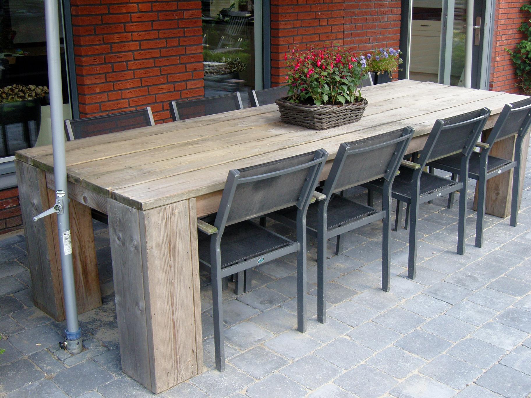 Steigerhouten meubelen tuintafels de steigerhout fabriek for Steigerhout tuintafel